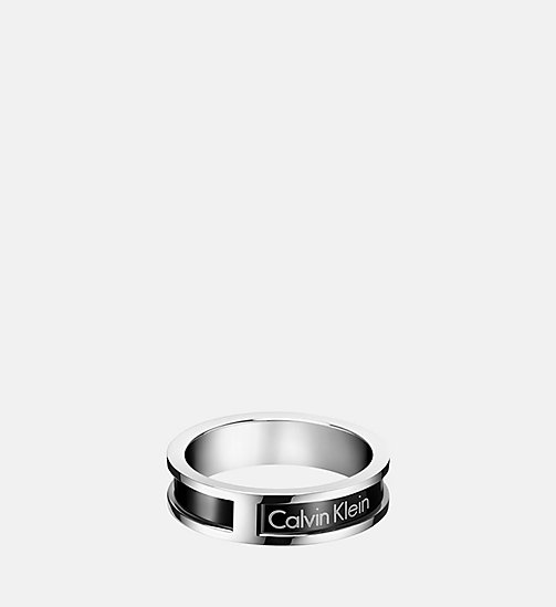 CALVINKLEIN Ring - Calvin Klein Hollow - SST/BLACK - CALVIN KLEIN WATCHES & JEWELLERY - main image