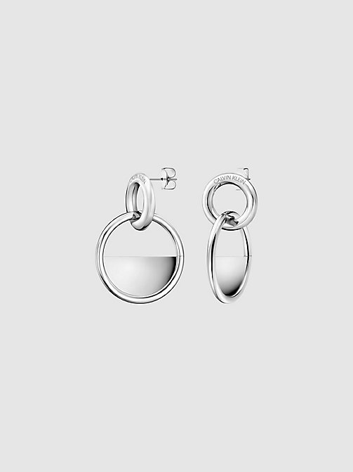CALVIN KLEIN Earrings - Calvin Klein Locked - SILVER - CALVIN KLEIN EARRINGS - main image