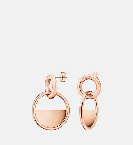 CALVIN KLEIN Earrings - Calvin Klein Locked - PINK GOLD - CALVIN KLEIN VALENTINES - main image