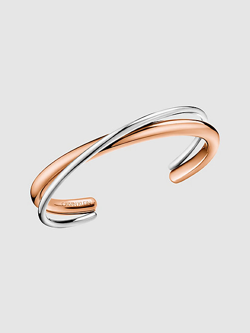 CALVINKLEIN Open Bangle - Calvin Klein Double - SILVER - CALVIN KLEIN GIFTS - main image