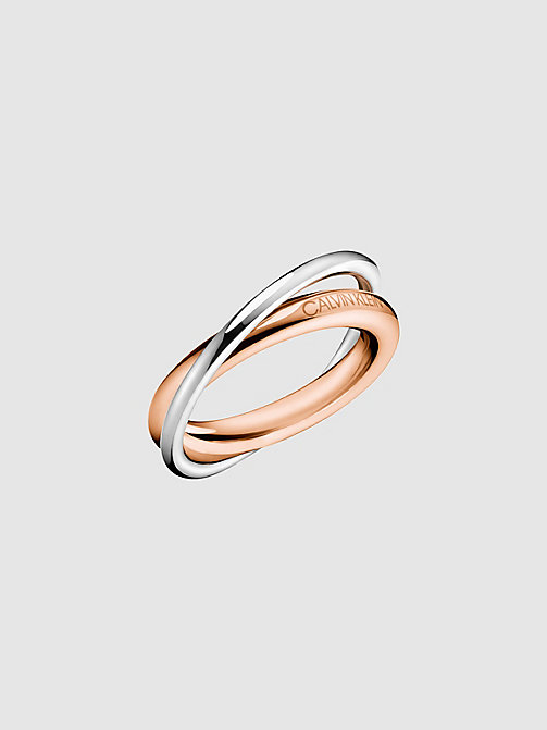 CALVINKLEIN Ring - Calvin Klein Double - SILVER -  RINGS - main image