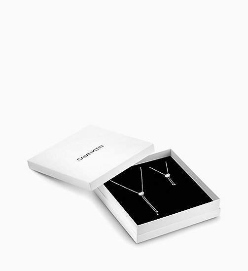 CALVIN KLEIN Bracelet and Necklace Gift Set - SILVER - CALVIN KLEIN VALENTINES - main image