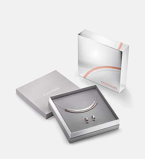 CALVINKLEIN Earrings Choker Gift Set - Calvin Klein Loud - SILVER - CALVIN KLEIN NECKLACES - main image