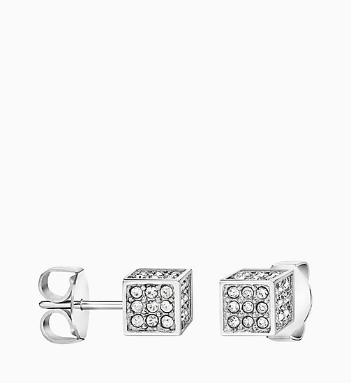CALVIN KLEIN Earrings - Calvin Klein Rocking - SILVER/WHITE - CALVIN KLEIN VALENTINES - detail image 1