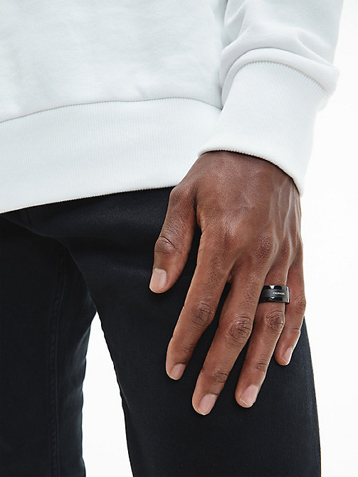 CALVINKLEIN Ring - Calvin Klein Strong - BLACK - CALVIN KLEIN MEN - detail image 1