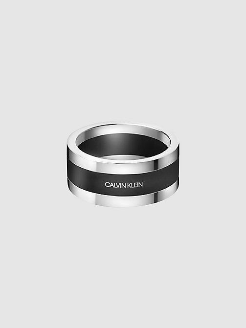 CALVIN KLEIN Ring - Calvin Klein Strong - SILVER & BLACK - CALVIN KLEIN ALL GIFTS - main image