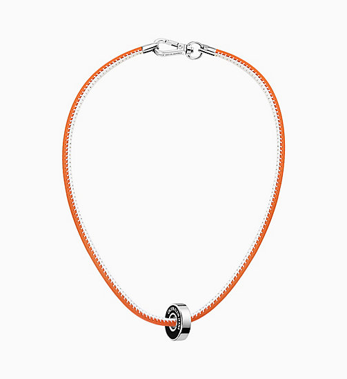 CALVIN KLEIN JEANS Necklace - Calvin Klein Bearing - ORANGE / BLACK - CALVIN KLEIN JEANS NEW IN - main image