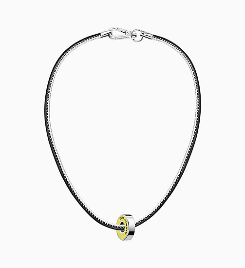 CALVIN KLEIN JEANS Necklace - Calvin Klein Bearing - BLACK/YELLOW - CALVIN KLEIN JEANS NEW IN - main image