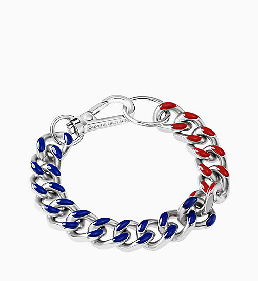 CALVIN KLEIN JEANS Armband - Calvin Klein Shudder - SILVER RED / BLUE - CALVIN KLEIN JEANS NEW IN - main image
