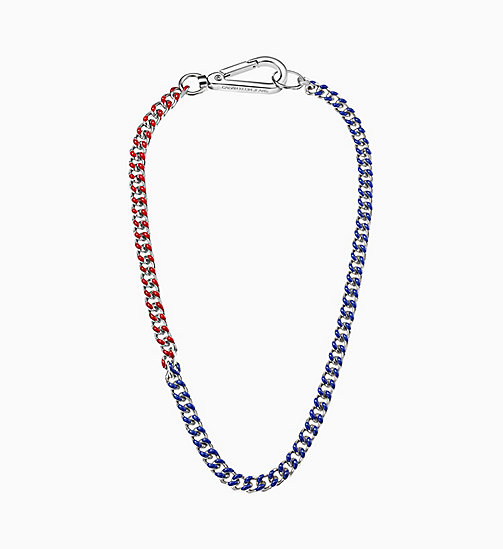 CALVIN KLEIN JEANS Necklace - Calvin Klein Shudder - SILVER RED / BLUE - CALVIN KLEIN JEANS NEW IN - main image