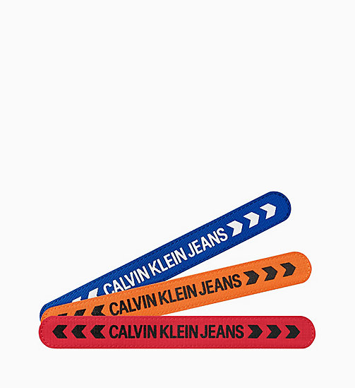 CALVIN KLEIN JEANS Bracelet - Calvin Klein Hit & Fun - BLUE ORANGE / RED - CALVIN KLEIN JEANS NEW IN - main image
