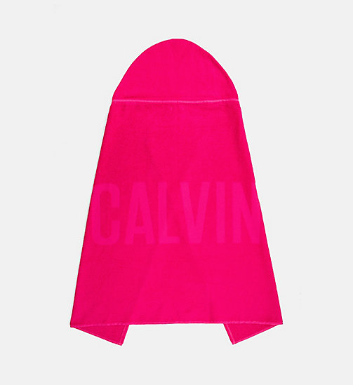 CALVINKLEIN Kids Hooded Towel - Intense Power - PINK GLO - CALVIN KLEIN SWIMWEAR - detail image 1
