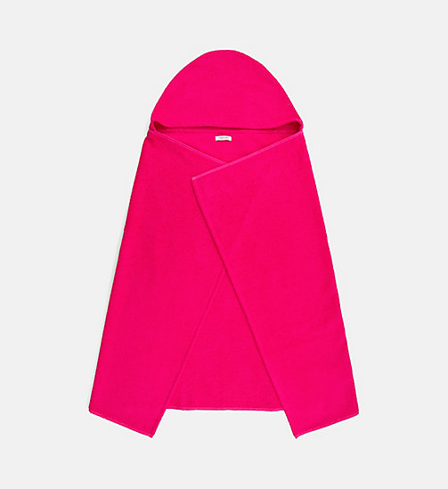 CALVINKLEIN Kids Hooded Towel - Intense Power - PINK GLO - CALVIN KLEIN SWIMWEAR - main image