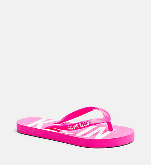 CALVINKLEIN Kids Sliders - Intense Power - PINK GLO - CALVIN KLEIN SWIMWEAR - main image