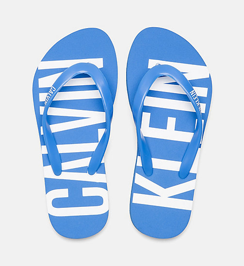 CALVINKLEIN Kids Sliders - Intense Power - 18-4245-ELECTRIC BLUE LEMONADE - CALVIN KLEIN SWIMWEAR - detail image 1
