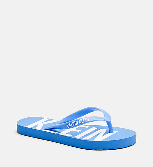 CALVINKLEIN Kids Sliders - Intense Power - 18-4245-ELECTRIC BLUE LEMONADE - CALVIN KLEIN SWIMWEAR - main image