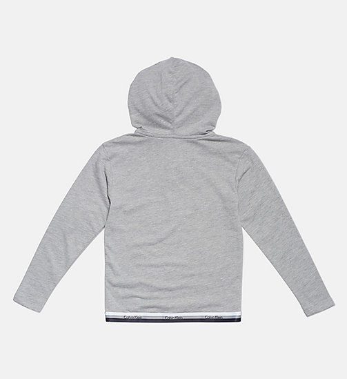 CALVINKLEIN Kids Logo Hoodie - CK Graphic - GREY HEATHER - CALVIN KLEIN GIRLS - detail image 1