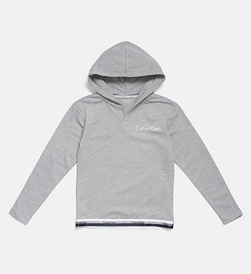 CALVINKLEIN Kids Logo Hoodie - CK Graphic - GREY HEATHER - CALVIN KLEIN GIRLS - main image