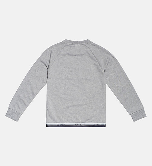 CALVINKLEIN Kids Logo Sweatshirt - CK Graphic - GREY HEATHER - CALVIN KLEIN GIRLS - detail image 1
