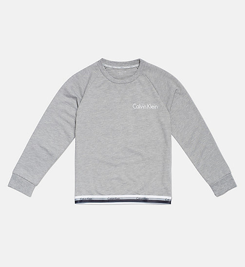 CALVINKLEIN Kids Logo Sweatshirt - CK Graphic - GREY HEATHER - CALVIN KLEIN GIRLS - main image
