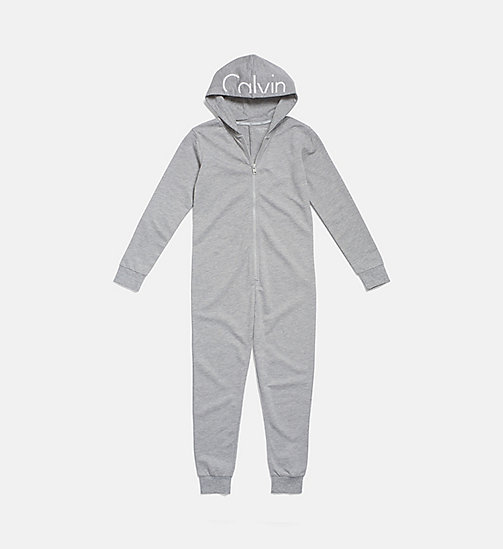 CALVINKLEIN Barboteuse pour enfant - Modern Cotton - GREY HEATHER - CALVIN KLEIN FILLES - image principale