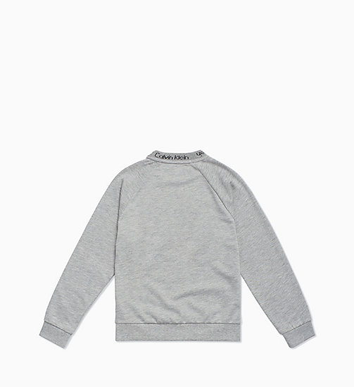 CALVIN KLEIN Kids Sweatshirt - Modern Cotton - GREY HEATHER BC05 - CALVIN KLEIN GIRLS - detail image 1