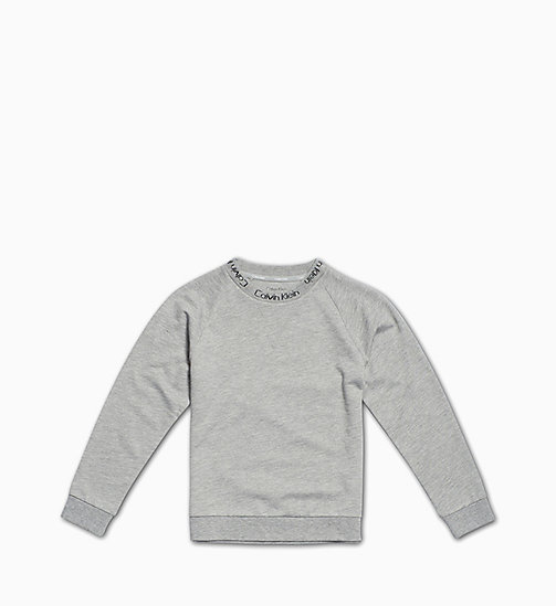 CALVIN KLEIN Kids Sweatshirt - Modern Cotton - GREY HEATHER BC05 - CALVIN KLEIN GIRLS - main image