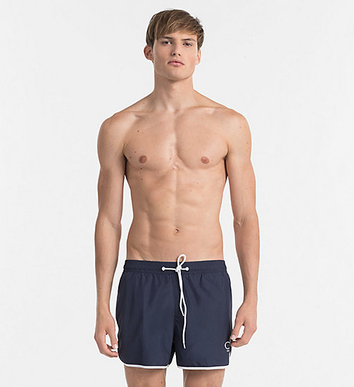 CALVINKLEIN Swim Shorts - CK NYC - BLUE SHADOW - CALVIN KLEIN SWIMWEAR - main image