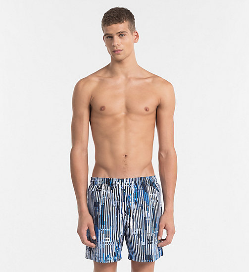 CALVINKLEIN Swim Shorts - CK NYC - CITY BLUE - CALVIN KLEIN SWIMWEAR - main image