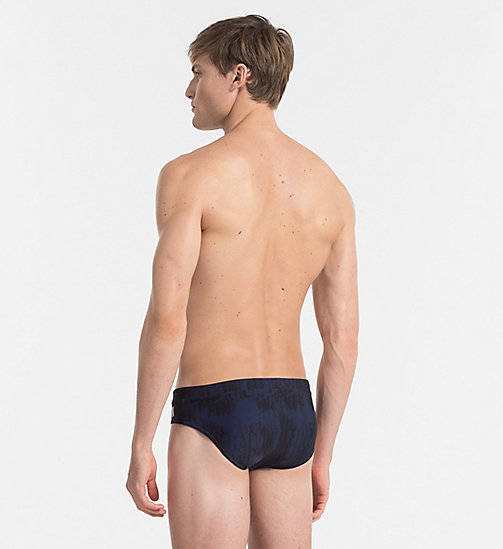 CALVINKLEIN Badeslip - Intense Power - IKAT BLUE SHADOW - CALVIN KLEIN LOGO SHOP - main image 1