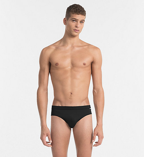 CALVINKLEIN Swim Briefs - Core Solids - BLACK - CALVIN KLEIN SWIM BRIEFS - main image