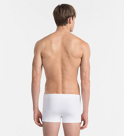 CALVINKLEIN Swim Trunks - Core Logo Tape - WHITE - CALVIN KLEIN SWIMWEAR - detail image 1