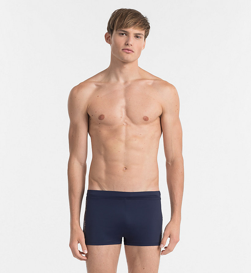 CALVINKLEIN Swim Trunks - Core Logo Tape - WHITE - CALVIN KLEIN UNDERWEAR - main image