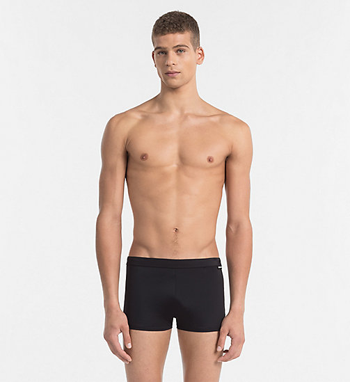 CALVINKLEIN Swim Trunks - Core Solids - BLACK - CALVIN KLEIN SWIM TRUNKS - main image