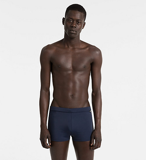 CALVINKLEIN Swim Trunks - Core Solids - BLUE SHADOW - CALVIN KLEIN SWIM TRUNKS - main image