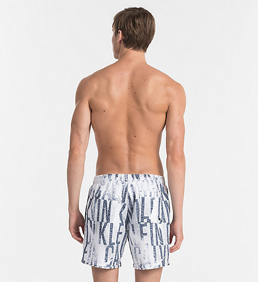 CALVINKLEIN Swim Shorts - Intense Power - IKAT WHITE - CALVIN KLEIN SWIM SHORTS - detail image 1