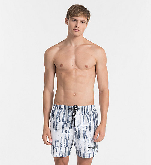 CALVINKLEIN Swim Shorts - Intense Power - IKAT WHITE - CALVIN KLEIN SWIM SHORTS - main image