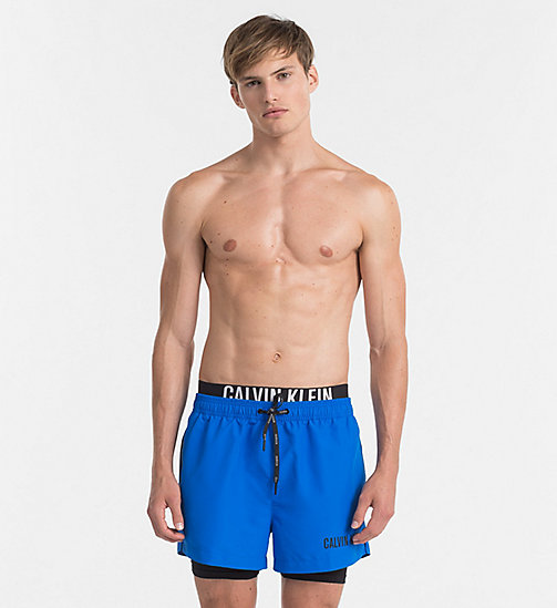 CALVINKLEIN Swim Shorts - Intense Power - 18-4245-ELECTRIC BLUE LEMONADE - CALVIN KLEIN LOGO SHOP - main image