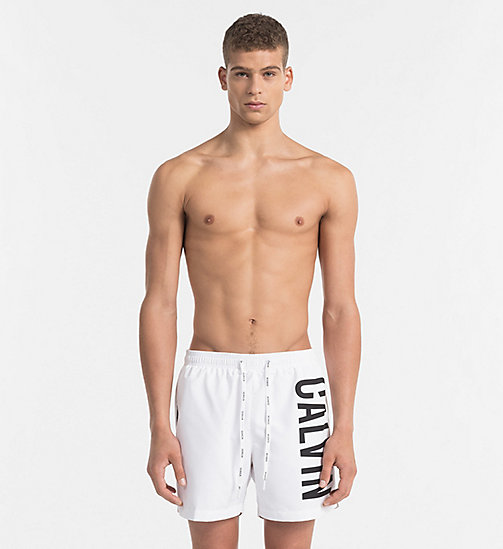 CALVINKLEIN Swim Shorts - Intense Power - WHITE - CALVIN KLEIN LOGO SHOP - main image