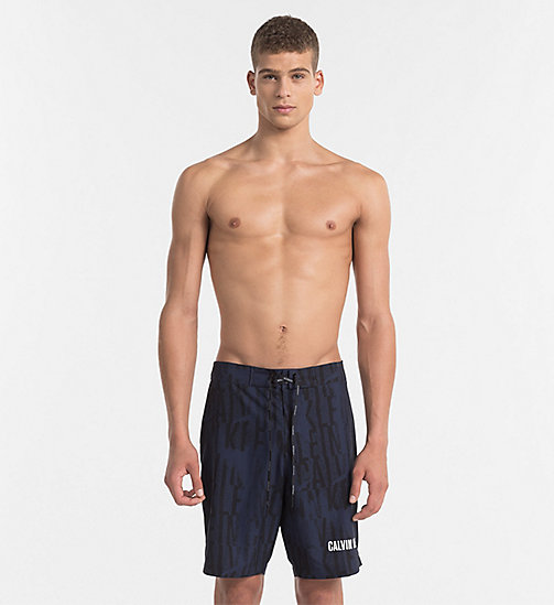CALVINKLEIN Boardshort - Intense Power - IKAT BLUE SHADOW - CALVIN KLEIN LOGO SHOP - image principale