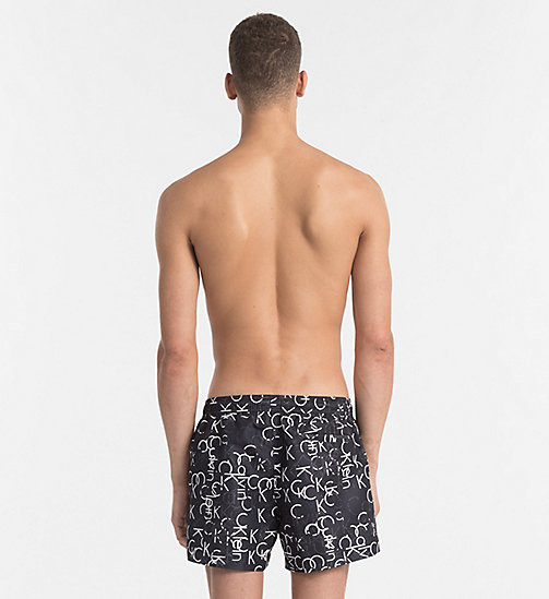 CALVINKLEIN Swim Shorts - Core Solids - BLACK LOGO - CALVIN KLEIN NEW IN - detail image 1