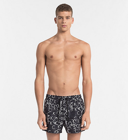 CALVINKLEIN Swim Shorts - Core Solids - BLACK LOGO - CALVIN KLEIN NEW IN - main image