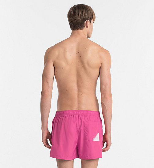 CALVINKLEIN Swim Shorts - Core Diagonal - SUGAR PLUM - CALVIN KLEIN NEW IN - detail image 1