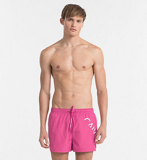 CALVINKLEIN Swim Shorts - Core Diagonal - SUGAR PLUM - CALVIN KLEIN NEW IN - main image