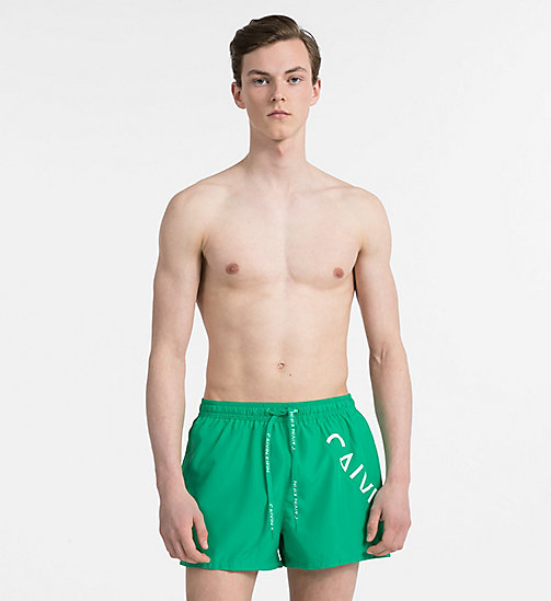 CALVINKLEIN Swim Shorts - Core Diagonal - MINT - CALVIN KLEIN NEW IN - main image