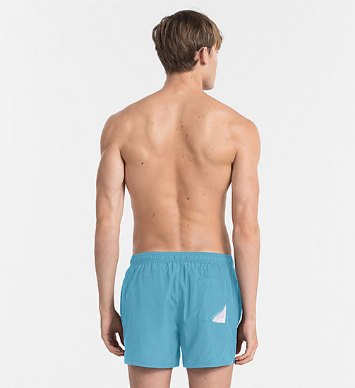 CALVINKLEIN Swim Shorts - Core Diagonal - SCUBA BLUE - CALVIN KLEIN SWIM SHORTS - detail image 1