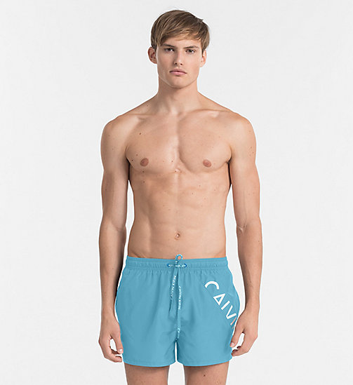 CALVINKLEIN Swim Shorts - Core Diagonal - SCUBA BLUE - CALVIN KLEIN SWIM SHORTS - main image
