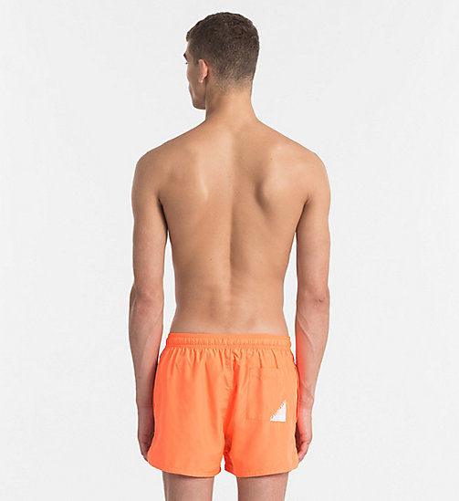 CALVINKLEIN Swim Shorts - Core Diagonal - 15-1460-ORANGE CLOWN FISH - CALVIN KLEIN SWIM SHORTS - detail image 1