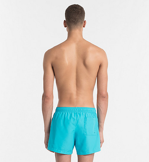 CALVINKLEIN Swim Shorts - Core Logo Tape - SCUBA BLUE - CALVIN KLEIN SWIM SHORTS - detail image 1