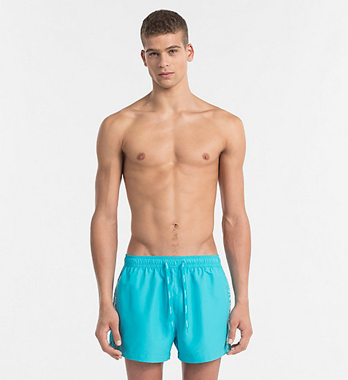 CALVINKLEIN Swim Shorts - Core Logo Tape - SCUBA BLUE - CALVIN KLEIN SWIMWEAR - main image